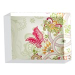 Floral Pattern Background 5 x 7  Acrylic Photo Blocks Front