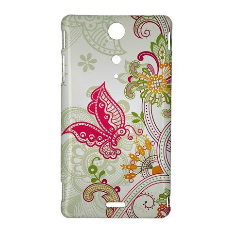 Floral Pattern Background Sony Xperia TX