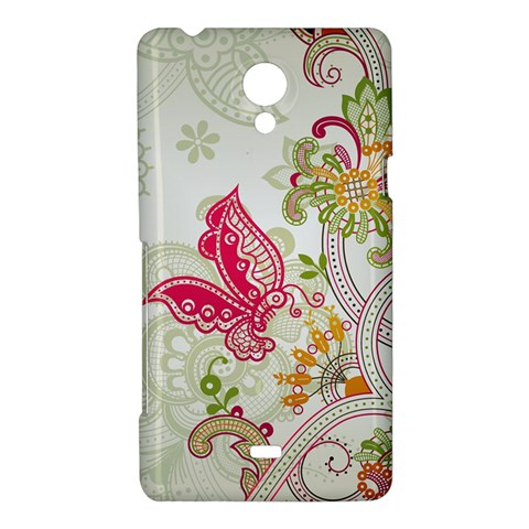 Floral Pattern Background Sony Xperia T