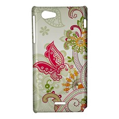 Floral Pattern Background Sony Xperia J