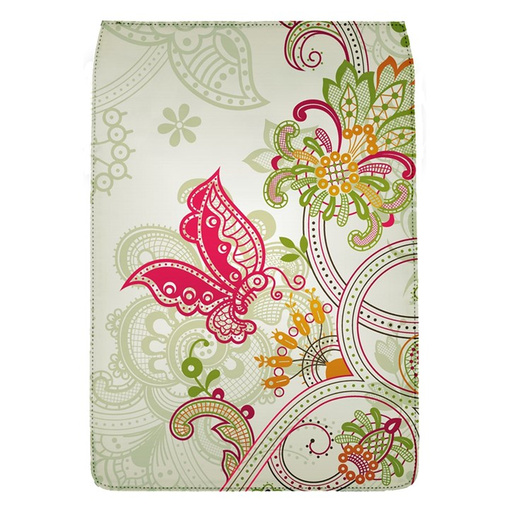Floral Pattern Background Flap Covers (S)