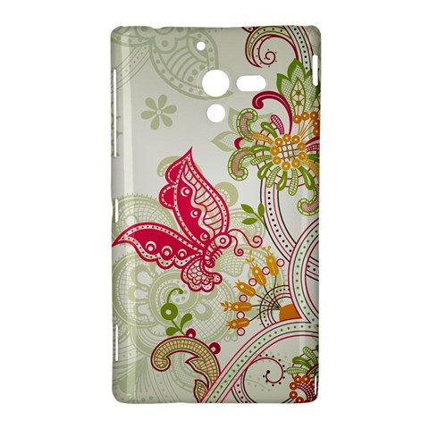 Floral Pattern Background Sony Xperia ZL (L35H)