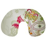 Floral Pattern Background Travel Neck Pillows Front