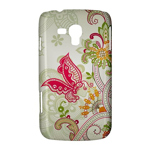 Floral Pattern Background Samsung Galaxy Duos I8262 Hardshell Case
