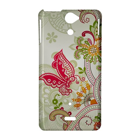 Floral Pattern Background Sony Xperia V