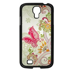 Floral Pattern Background Samsung Galaxy S4 I9500/ I9505 Case (Black)