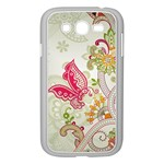 Floral Pattern Background Samsung Galaxy Grand DUOS I9082 Case (White) Front