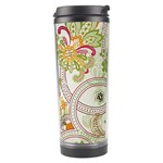 Floral Pattern Background Travel Tumbler Right