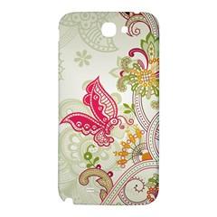 Floral Pattern Background Samsung Note 2 N7100 Hardshell Back Case