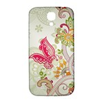 Floral Pattern Background Samsung Galaxy S4 I9500/I9505  Hardshell Back Case Front
