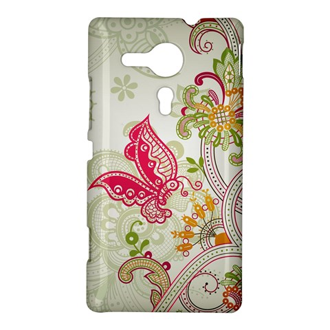 Floral Pattern Background Sony Xperia SP