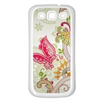 Floral Pattern Background Samsung Galaxy S3 Back Case (White) Front