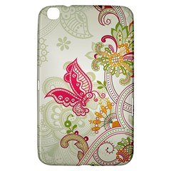 Floral Pattern Background Samsung Galaxy Tab 3 (8 ) T3100 Hardshell Case