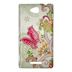 Floral Pattern Background Sony Xperia C (S39H)