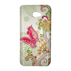 Floral Pattern Background HTC Butterfly S/HTC 9060 Hardshell Case