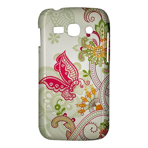 Floral Pattern Background Samsung Galaxy Ace 3 S7272 Hardshell Case
