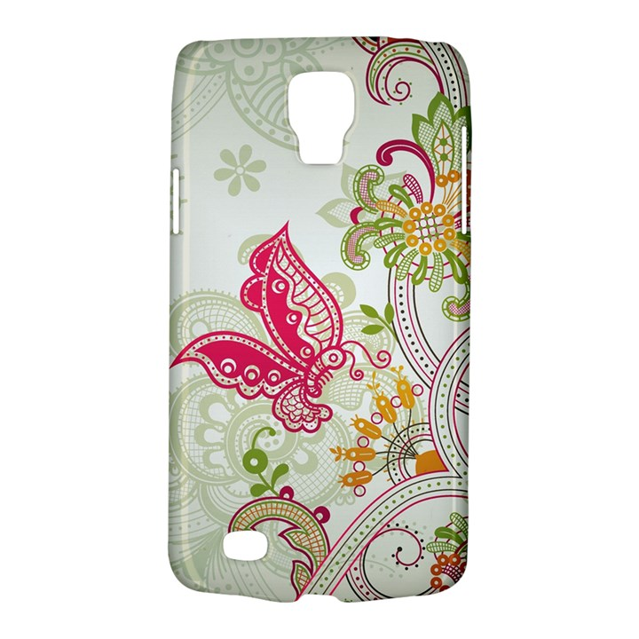 Floral Pattern Background Galaxy S4 Active