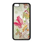 Floral Pattern Background Apple iPhone 5C Seamless Case (Black) Front