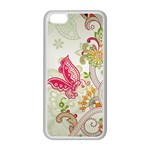 Floral Pattern Background Apple iPhone 5C Seamless Case (White) Front
