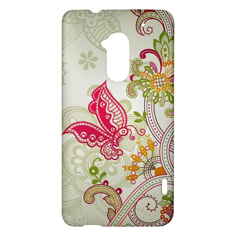 Floral Pattern Background HTC One Max (T6) Hardshell Case