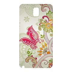 Floral Pattern Background Samsung Galaxy Note 3 N9005 Hardshell Back Case