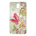 Floral Pattern Background Samsung Galaxy Note 3 N9005 Hardshell Back Case Front
