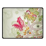 Floral Pattern Background Double Sided Fleece Blanket (Small)  50 x40 Blanket Front