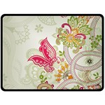 Floral Pattern Background Double Sided Fleece Blanket (Large)  80 x60 Blanket Front