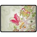 Floral Pattern Background Double Sided Fleece Blanket (Large)  80 x60 Blanket Back