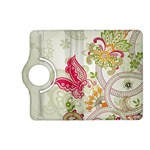 Floral Pattern Background Kindle Fire HD (2013) Flip 360 Case Front
