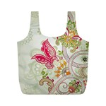 Floral Pattern Background Full Print Recycle Bags (M)  Front