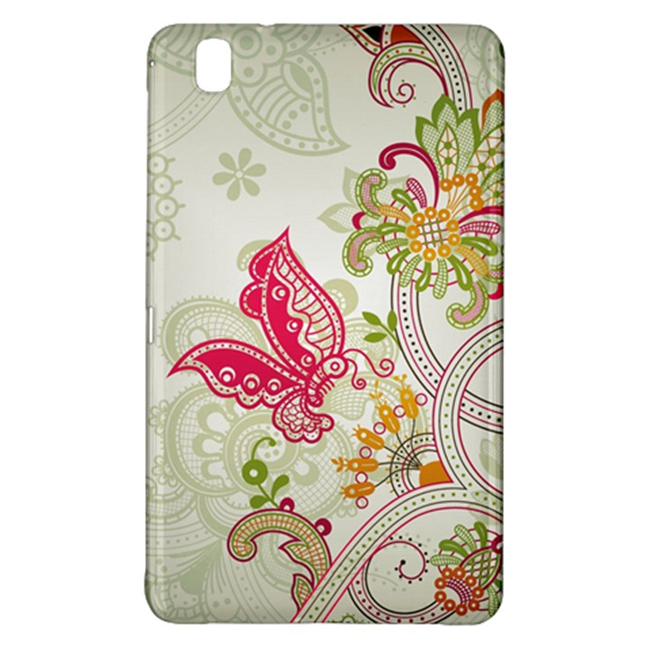 Floral Pattern Background Samsung Galaxy Tab Pro 8.4 Hardshell Case