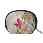 Floral Pattern Background Accessory Pouches (Small)  Back