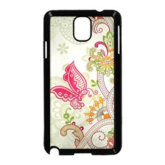 Floral Pattern Background Samsung Galaxy Note 3 Neo Hardshell Case (Black)