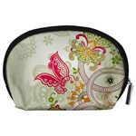 Floral Pattern Background Accessory Pouches (Large)  Back