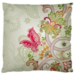 Floral Pattern Background Standard Flano Cushion Case (Two Sides) Front