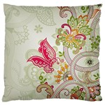 Floral Pattern Background Large Flano Cushion Case (Two Sides) Front