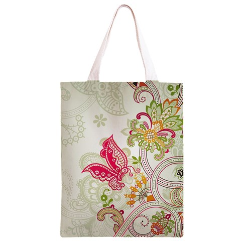 Floral Pattern Background Classic Light Tote Bag