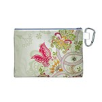 Floral Pattern Background Canvas Cosmetic Bag (M) Back