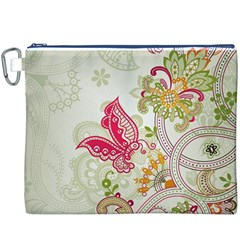 Floral Pattern Background Canvas Cosmetic Bag (XXXL)