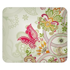 Floral Pattern Background Double Sided Flano Blanket (Small)