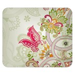 Floral Pattern Background Double Sided Flano Blanket (Small)  50 x40 Blanket Back