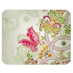 Floral Pattern Background Double Sided Flano Blanket (Medium)