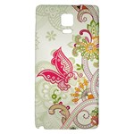 Floral Pattern Background Galaxy Note 4 Back Case Front