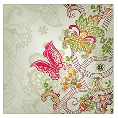 Floral Pattern Background Large Satin Scarf (Square)