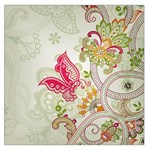 Floral Pattern Background Large Satin Scarf (Square) Front