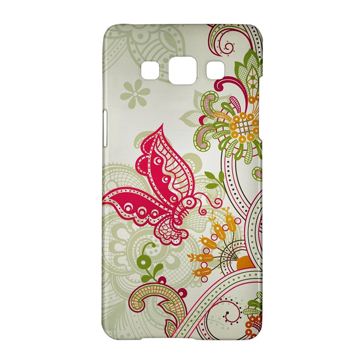 Floral Pattern Background Samsung Galaxy A5 Hardshell Case