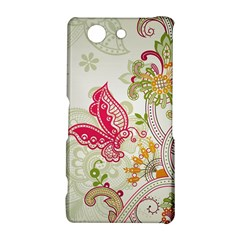 Floral Pattern Background Sony Xperia Z3 Compact