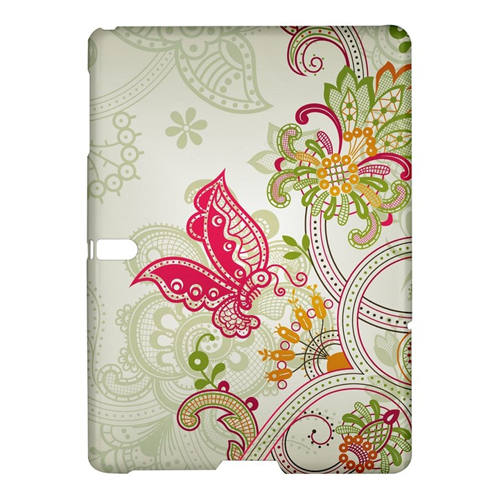 Floral Pattern Background Samsung Galaxy Tab S (10.5 ) Hardshell Case