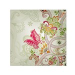 Floral Pattern Background Small Satin Scarf (Square) Front